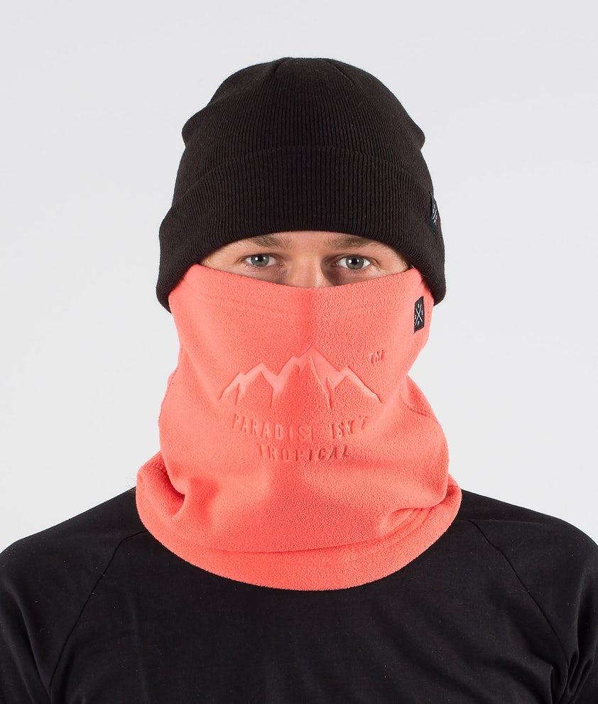 Dope Cozy Tube Facemask Coral