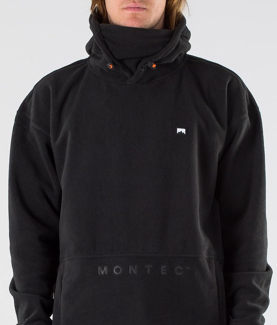 Montec Delta Pile con Cappuccio Black