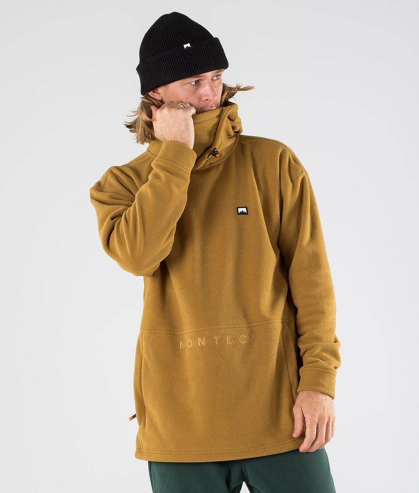 Montec Delta Fleece Hood Gold