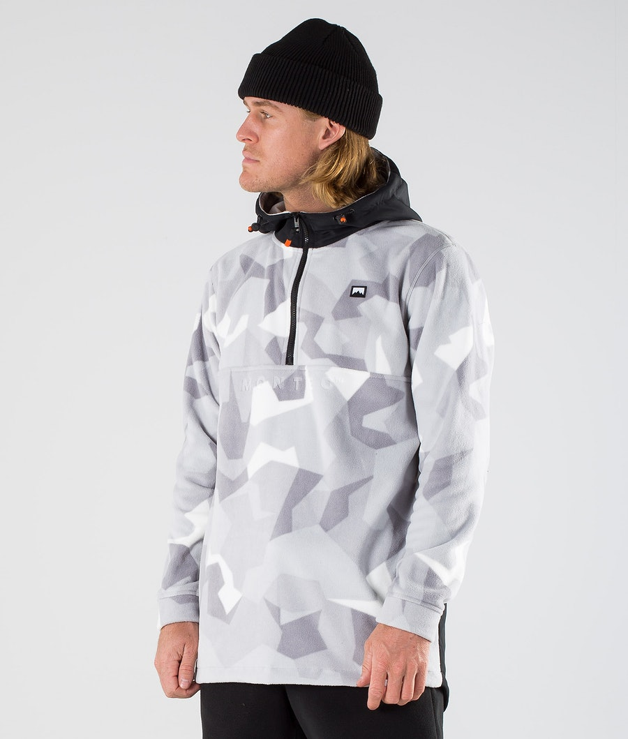 Montec Echo PO Fleecegenser Black/Snow Camo