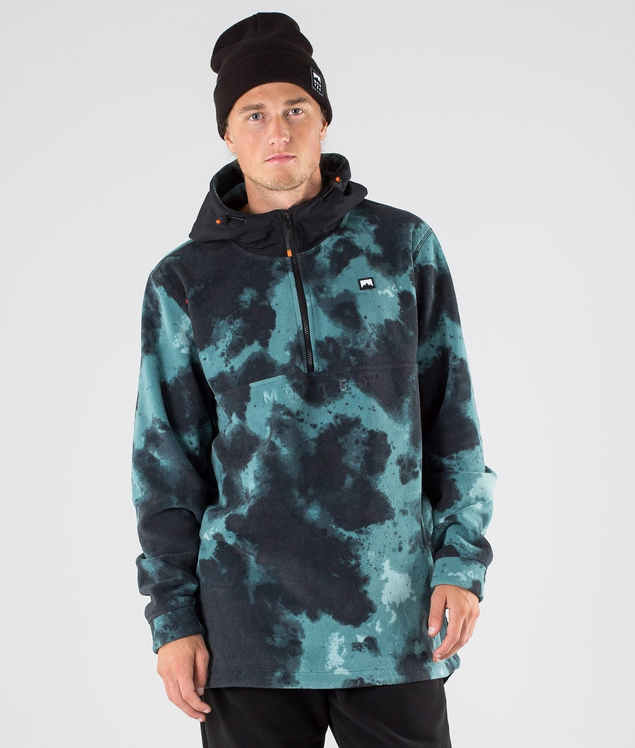Montec Echo PO Fleecehood Atlantic Tiedye