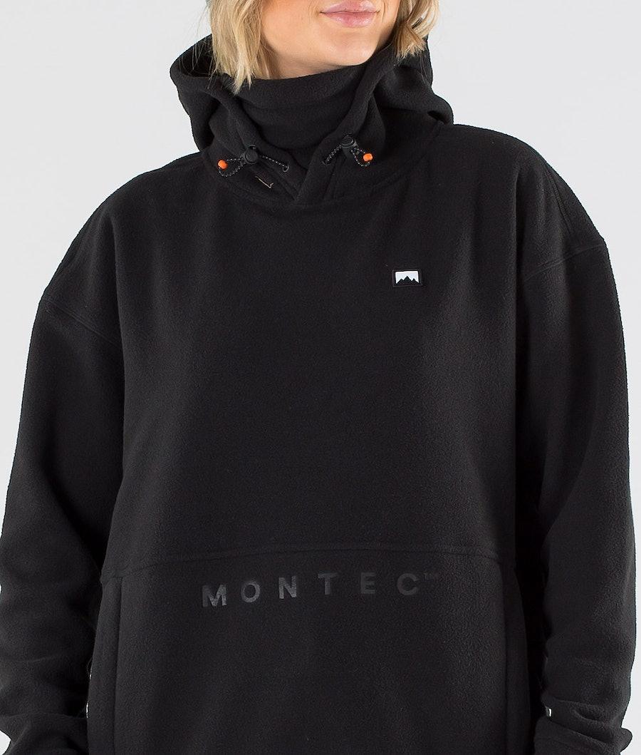 Montec Delta W Pile con Cappuccio Donna Black