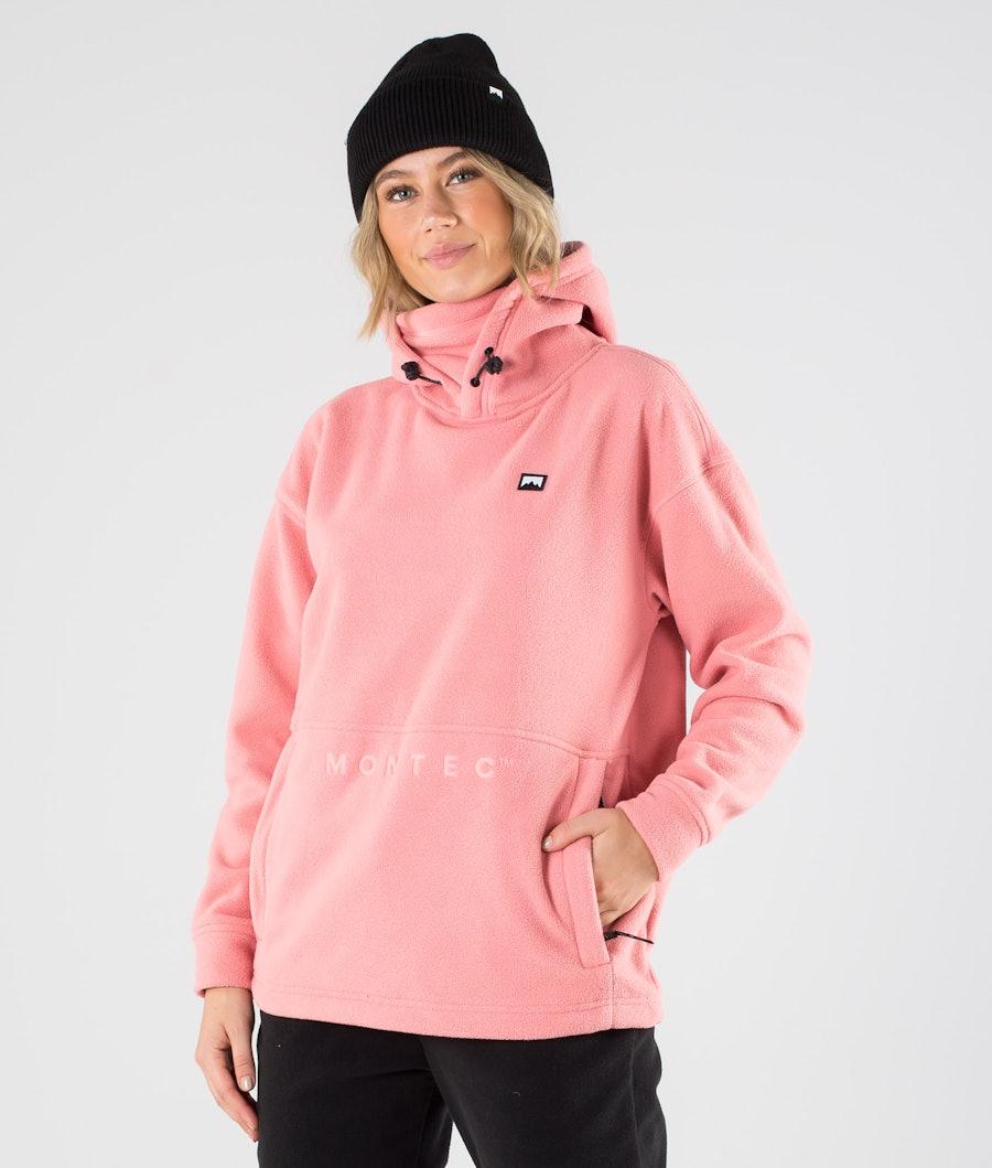 Montec Delta W Fleecehood Pink
