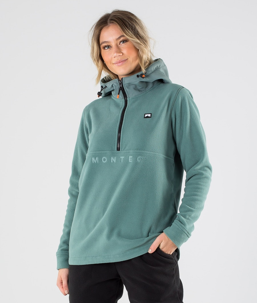 Montec Echo PO W Fleece Hoodie Atlantic