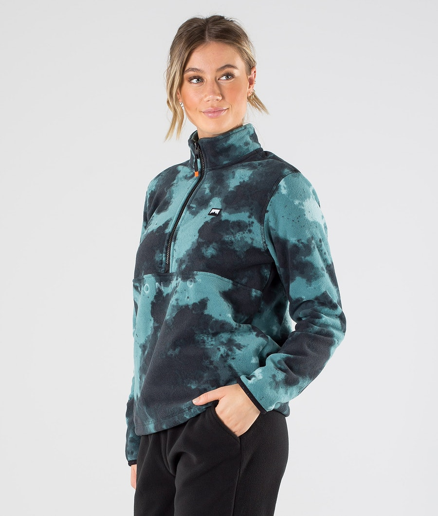 Montec Echo W Fleece Sweater Green Tie Dye