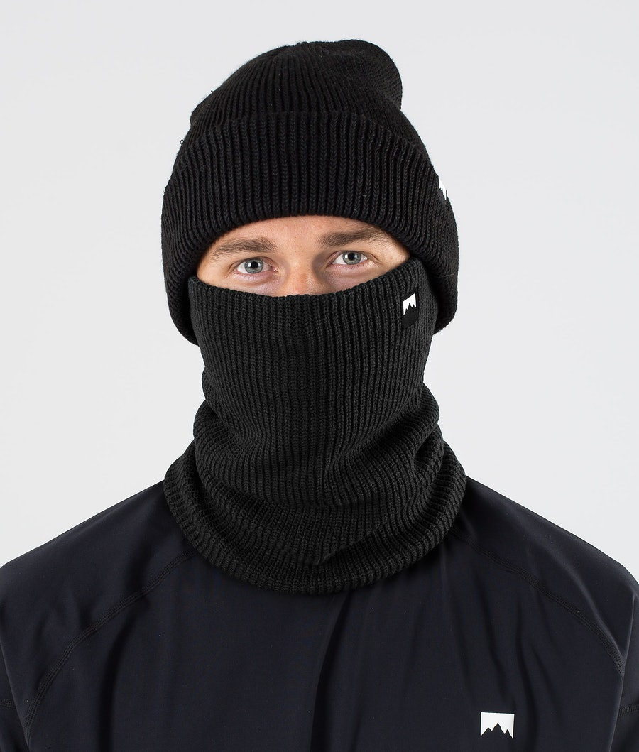 Montec Classic Knitted Facemask Black