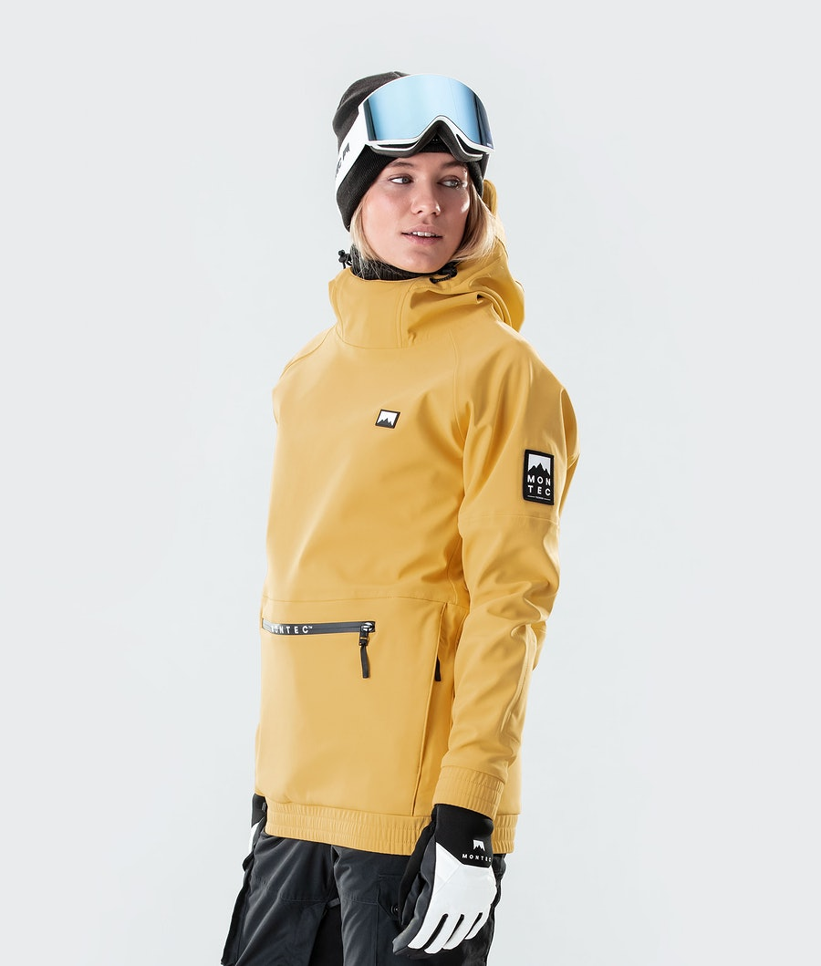 Montec Tempest W Veste de Snowboard Femme Yellow