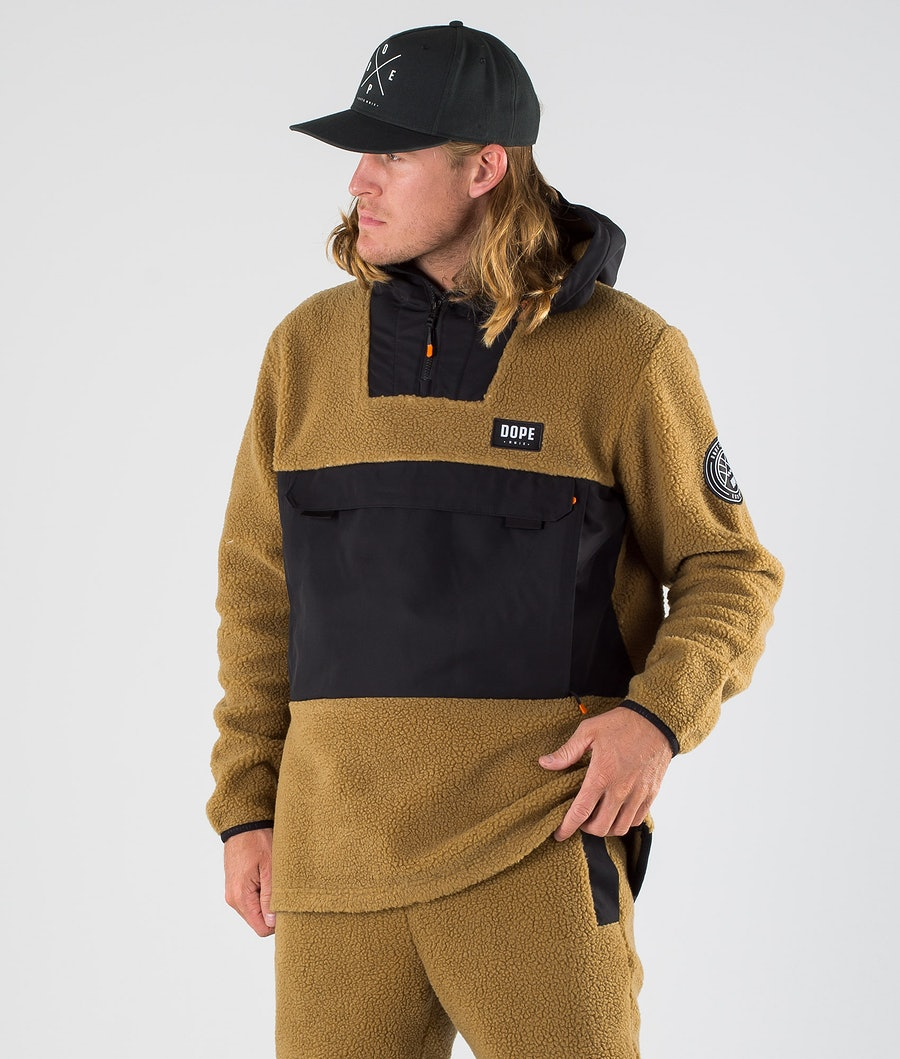 Dope Oi Fleecegenser Black/Gold