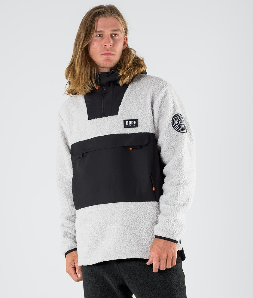 Dope Oi Fleece Hoodie Black/Light Grey