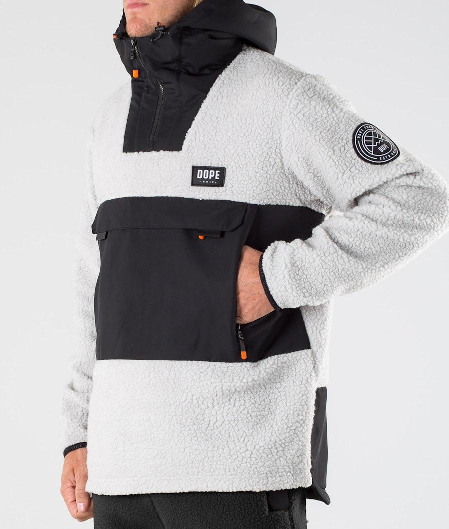 Dope Oi Fleece Hoodie Black/Light Grey