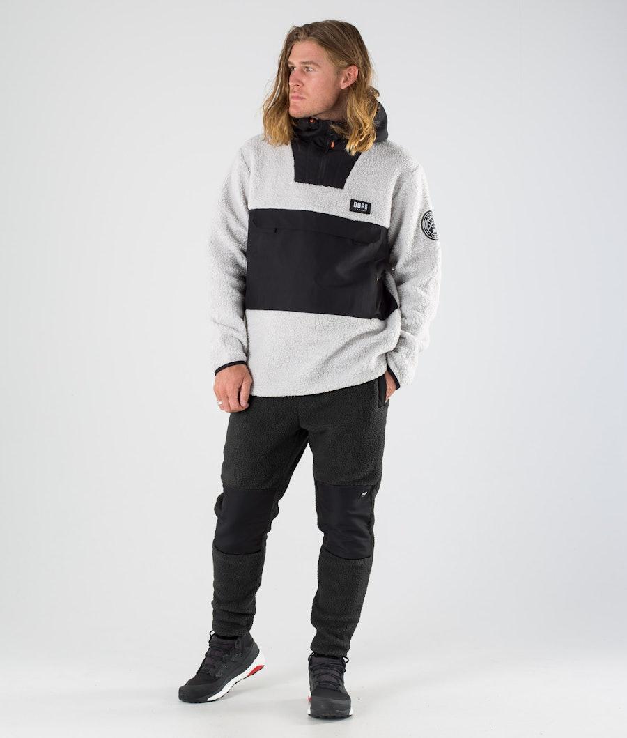 Dope Oi Fleece Hood Black/Light Grey