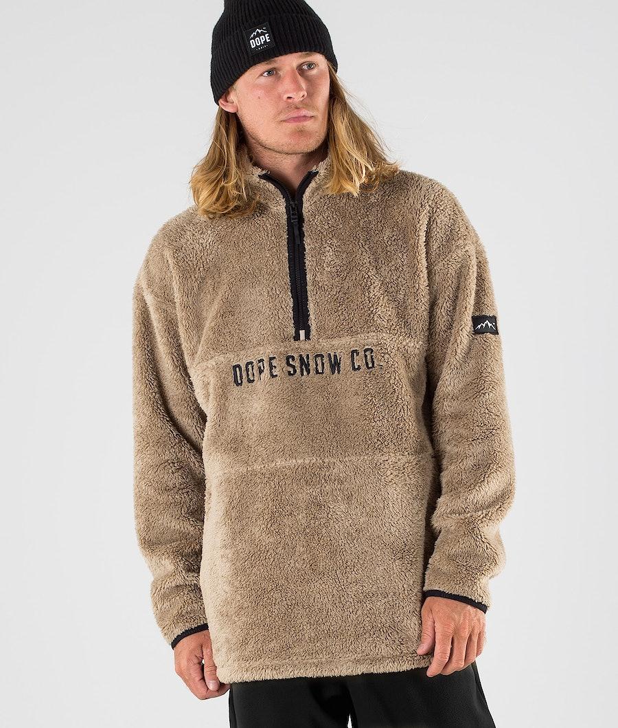 Dope Pile Fleece Trui Sand