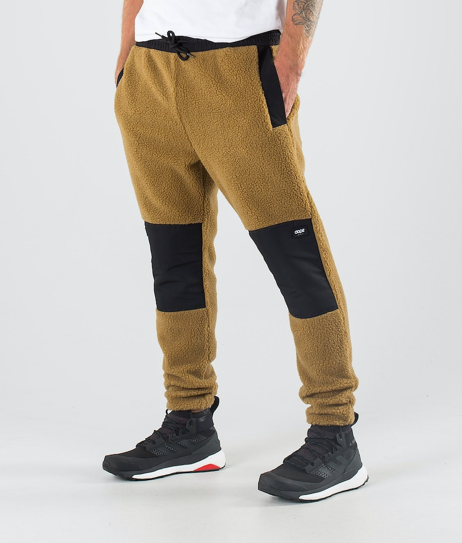 Dope Ollie Fleece Broek Black/Gold