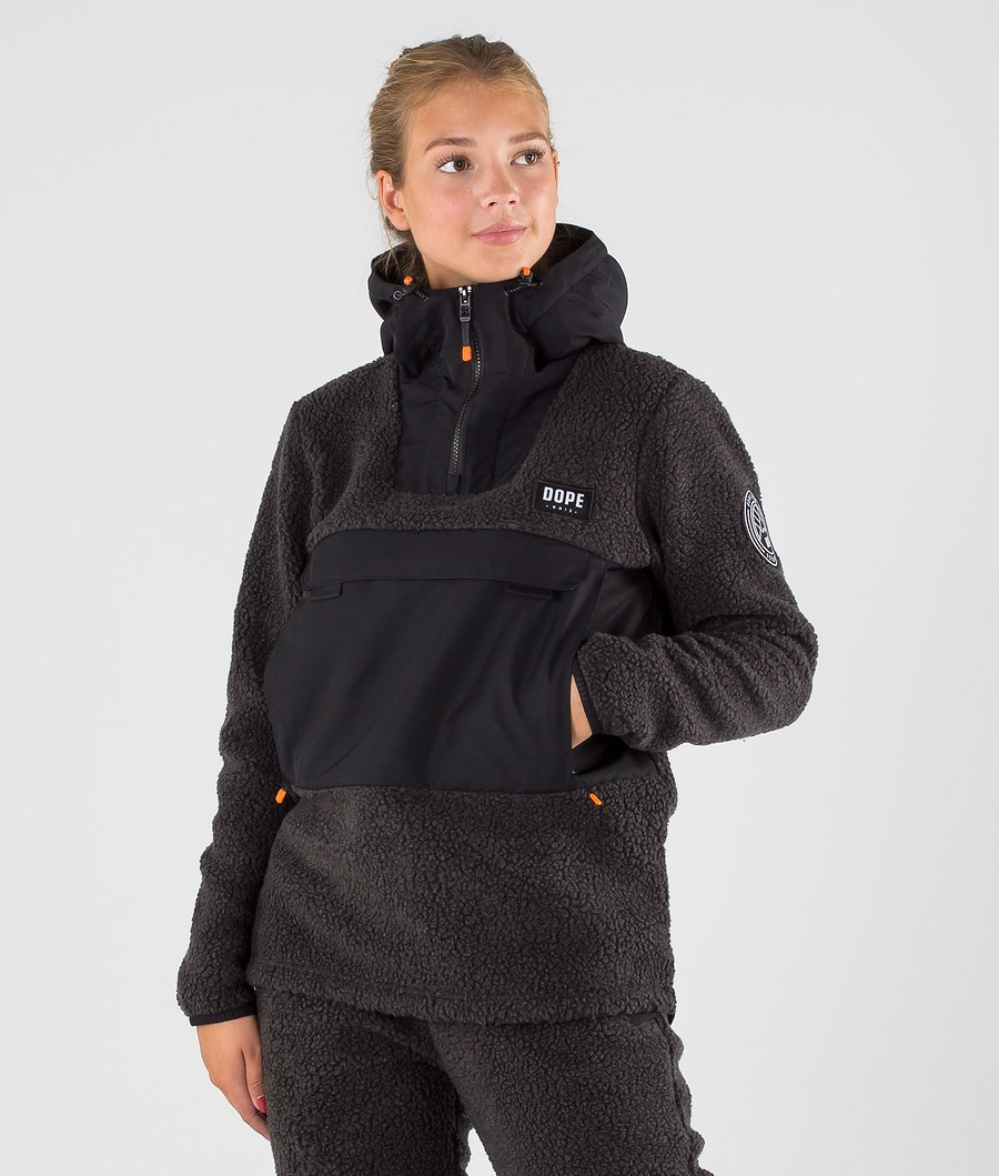 Dope Oi W Fleece Hood Phantom/Black