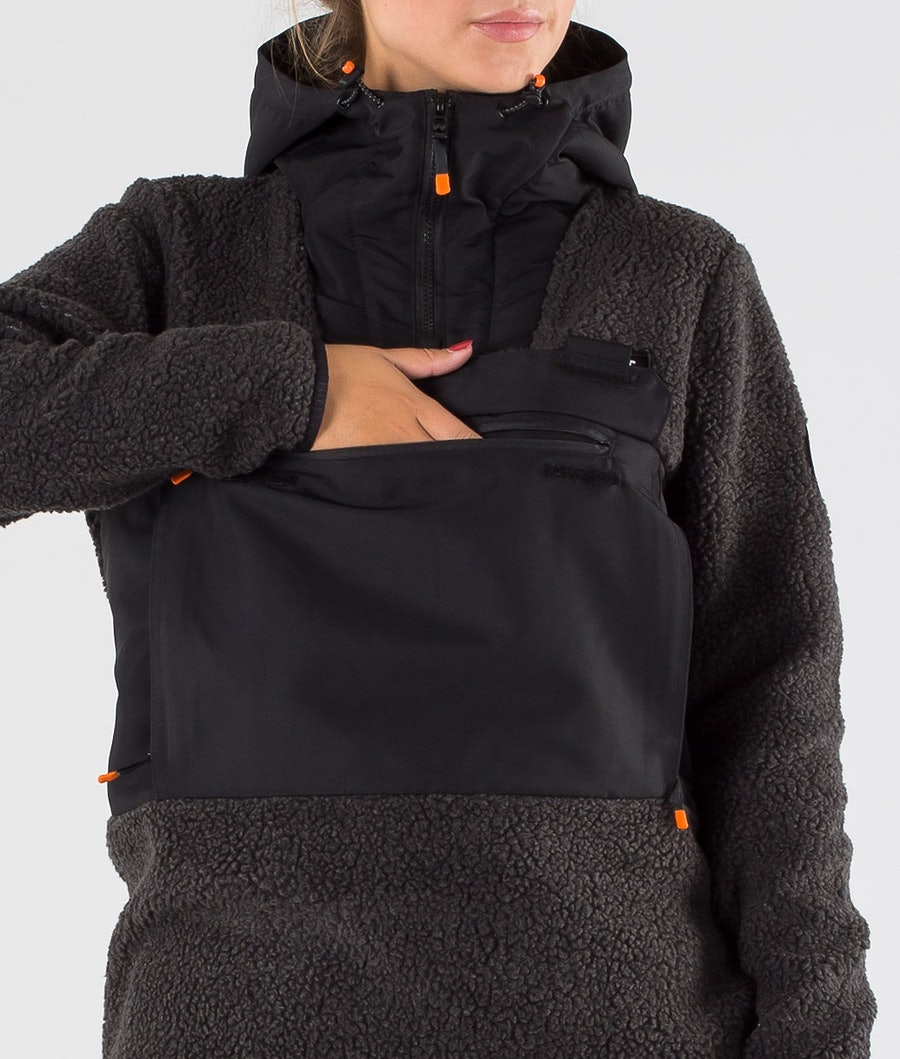 Dope Oi W Women's Fleece Hood Phantom/Black