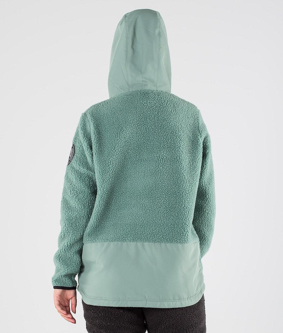 Dope Oi W Women's Fleece Hood Faded Green