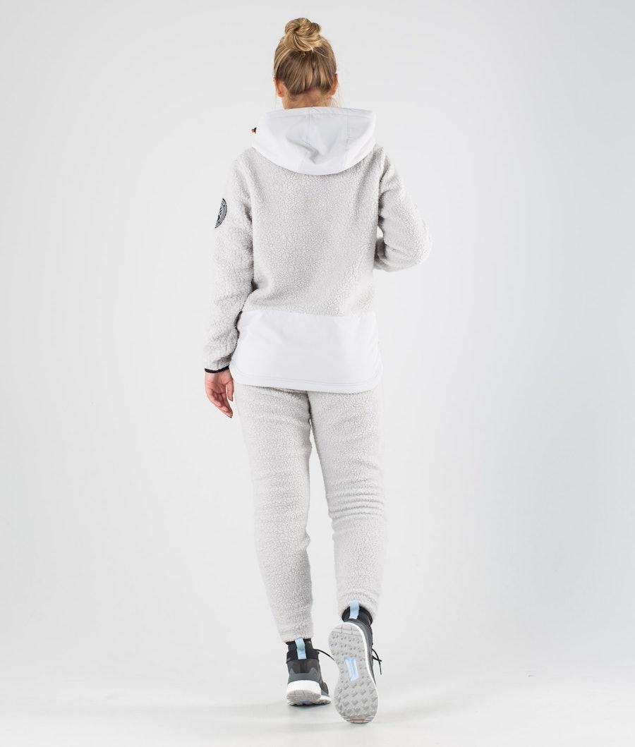 Dope Oi W Women's Fleece Hood Light Grey