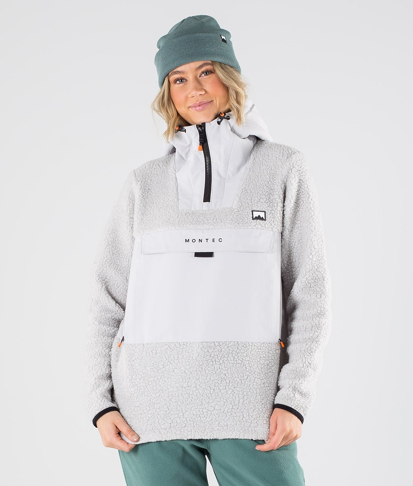 Montec Lima W Fleece Hood Light Grey