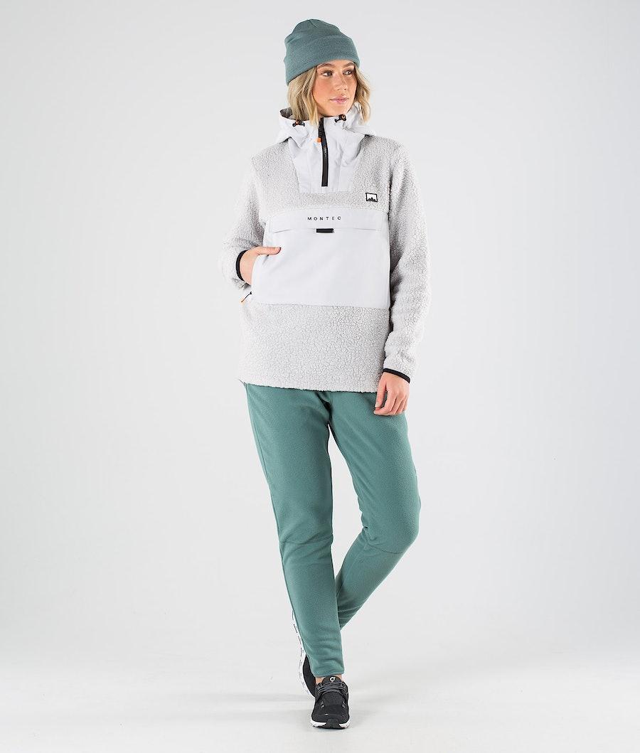 Montec Lima W Fleece Hoodie Dames Light Grey