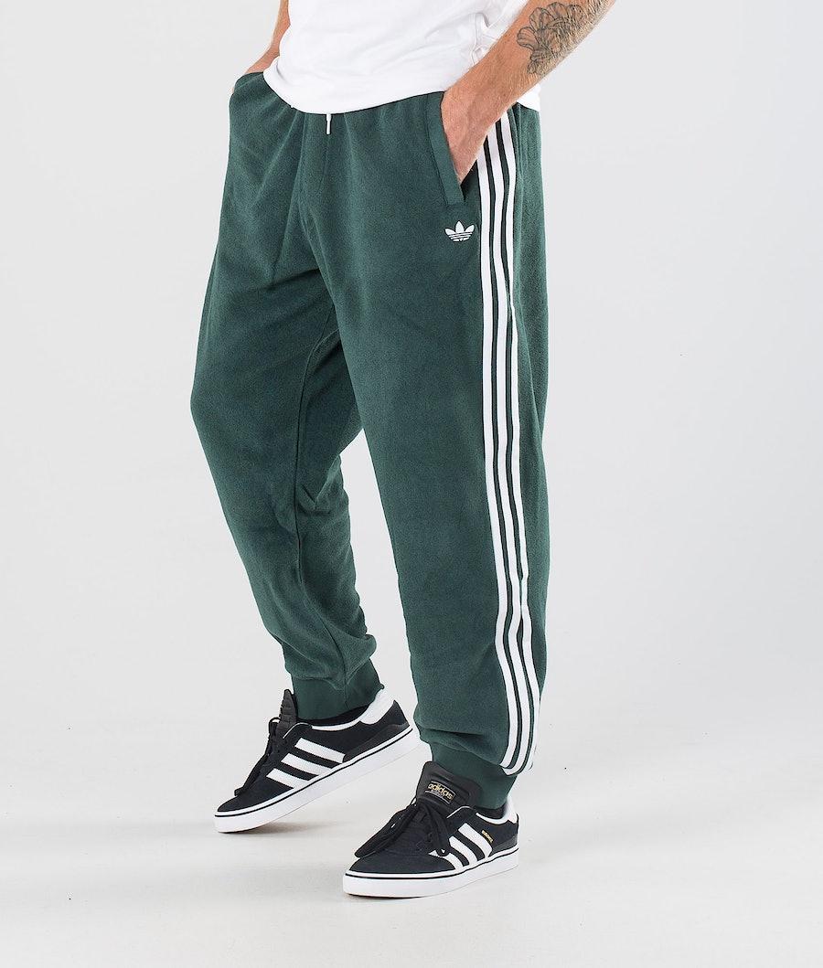 Adidas Skateboarding Bouclette Pantaloni Mineral Green/White