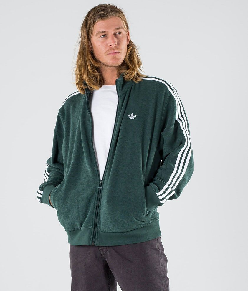 Adidas Skateboarding Bouclette Giacca Mineral Green/White
