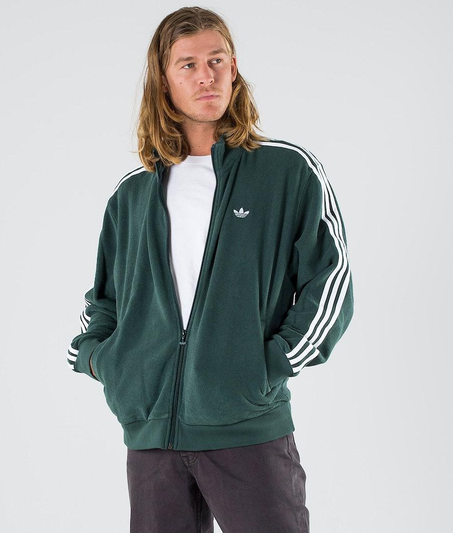 Adidas Skateboarding Bouclette Jacke Mineral Green/White