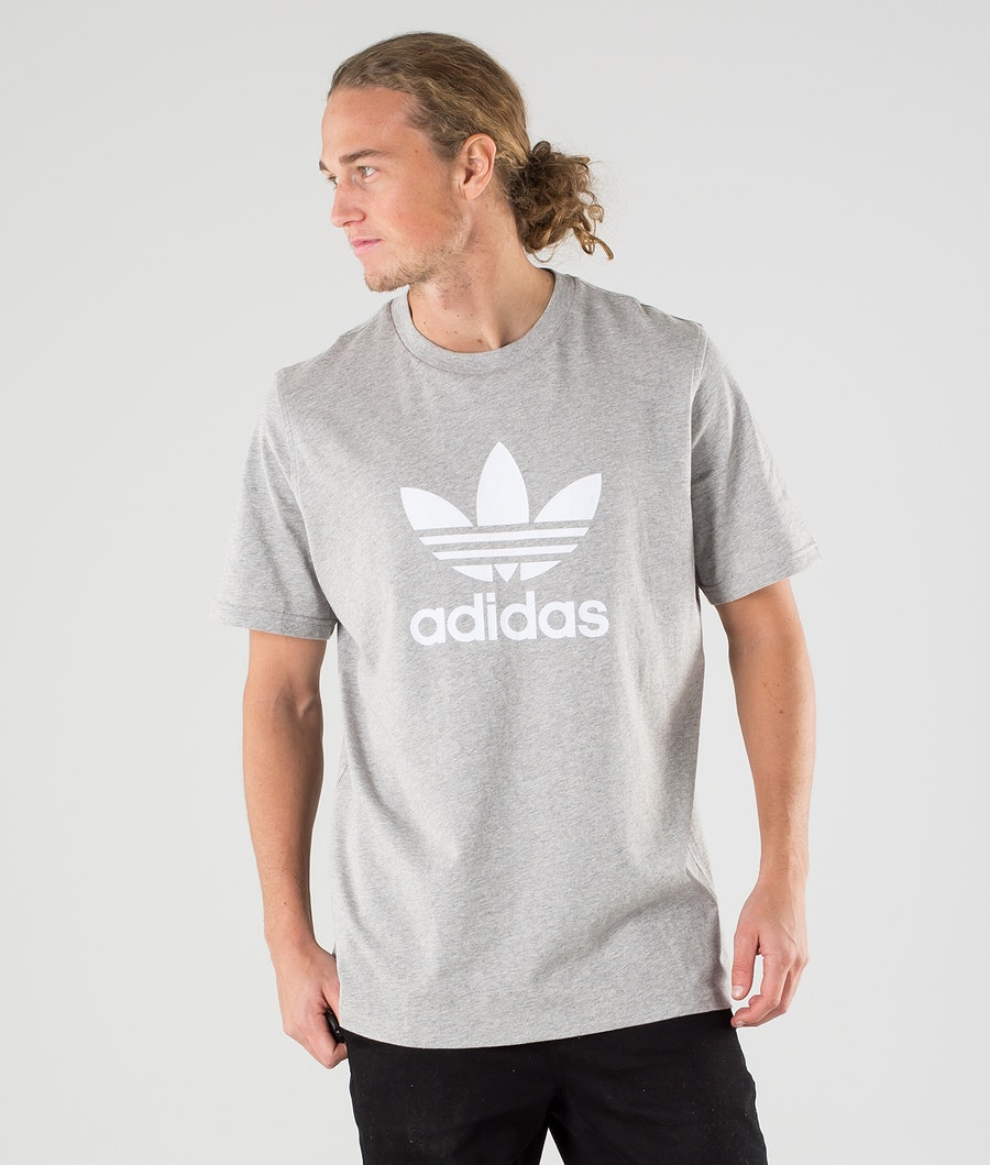 Adidas Originals Trefoil T-shirt Medium Grey Heather