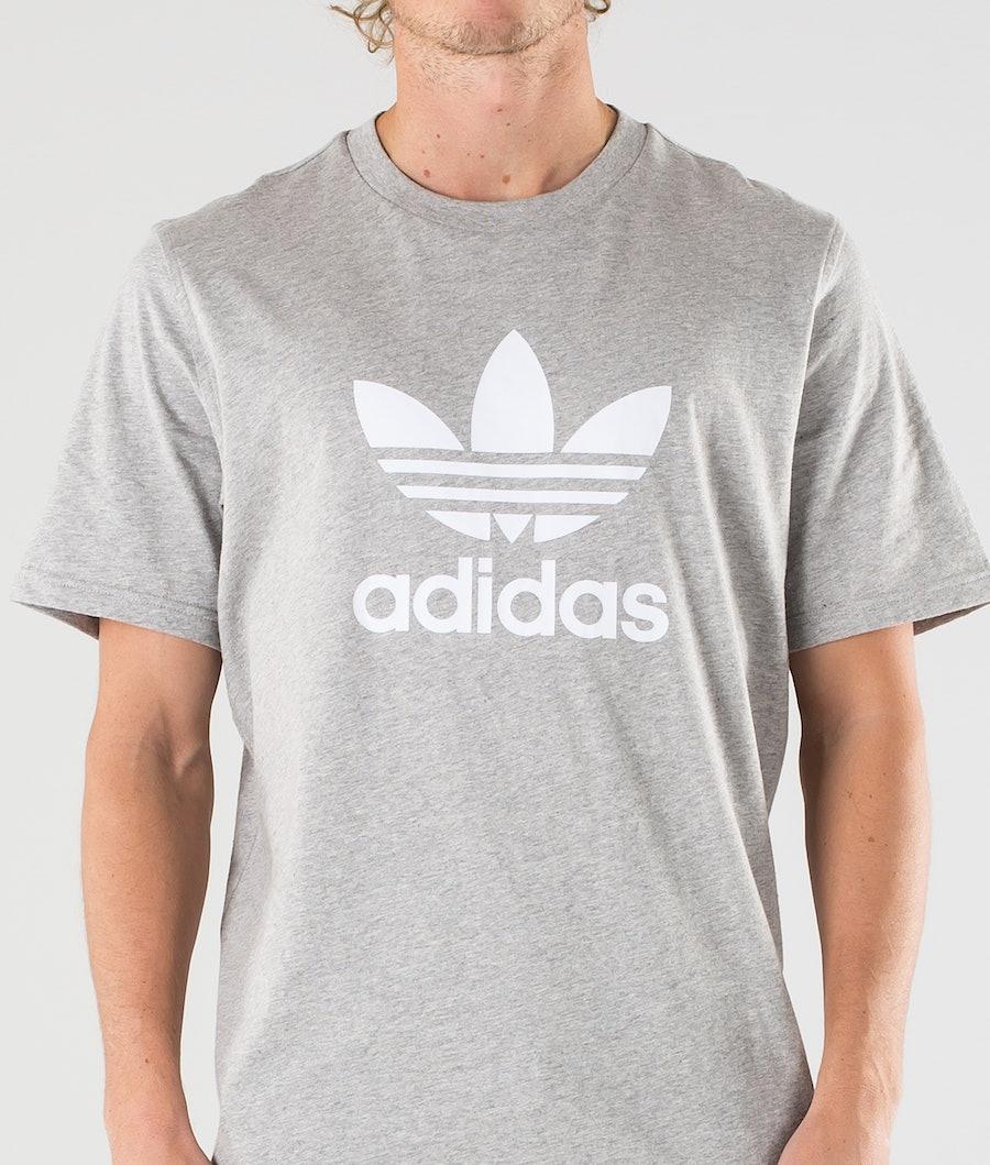 Adidas Originals Trefoil T-shirt Medium Grey Heather