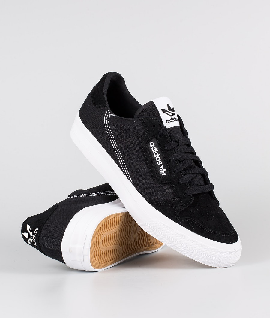 Adidas Originals Continental Vulc Shoes Core Black/Footwear White/Core Black