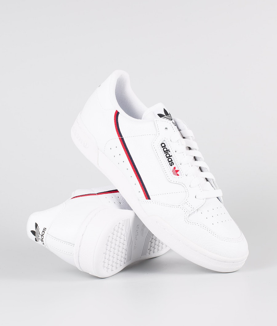 Adidas Originals Continental 80 Scarpe Footwear White/Scarlet/Collegiate Navy