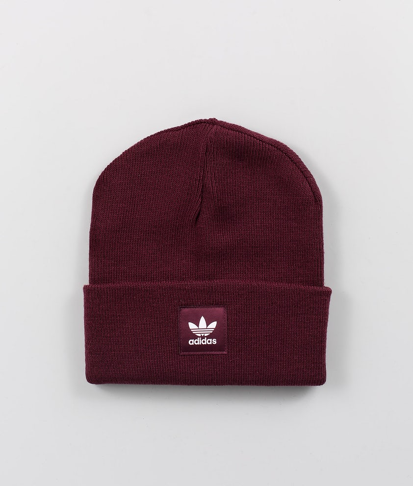 Adidas Originals Adicolor Cuff Knit Luer Maroon/White