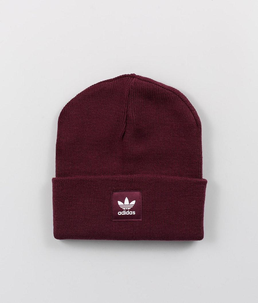 Adidas Originals Adicolor Cuff Knit Bonnet Maroon/White