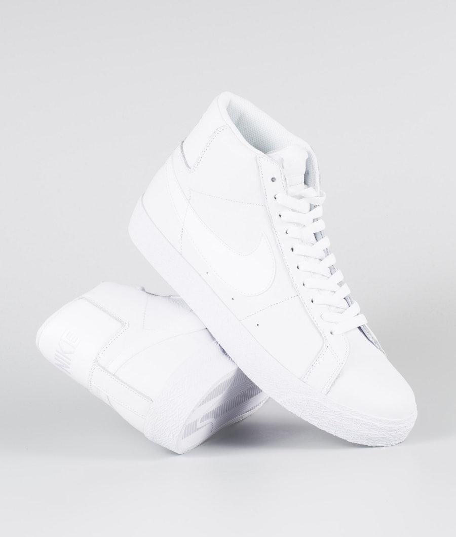 Nike SB Zoom Blazer Mid Kengät White/White-White