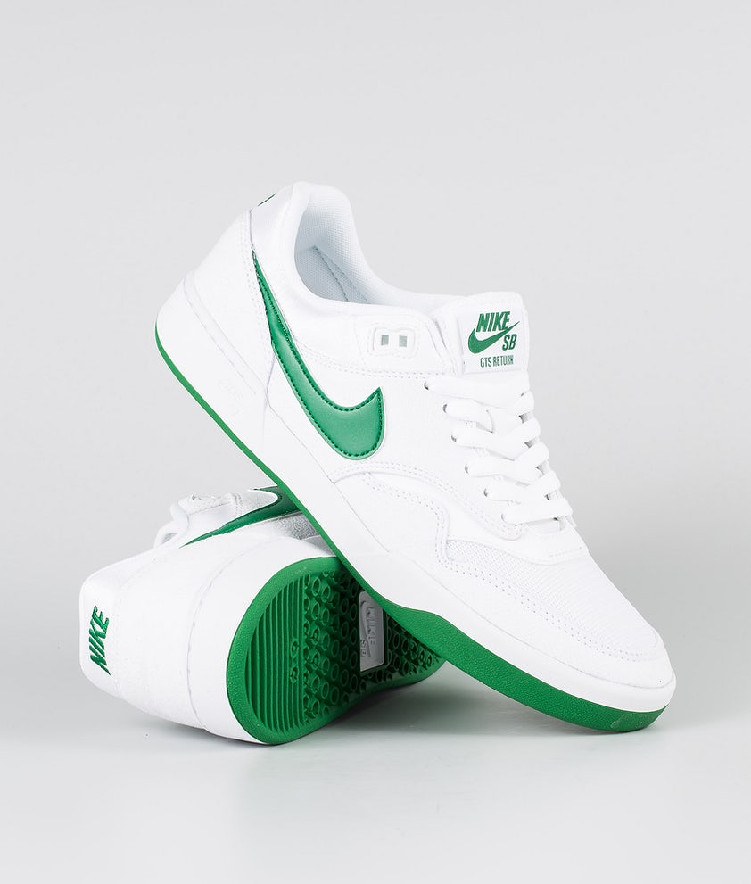 Nike SB GTS Return Shoes White/Pine Green-White-White