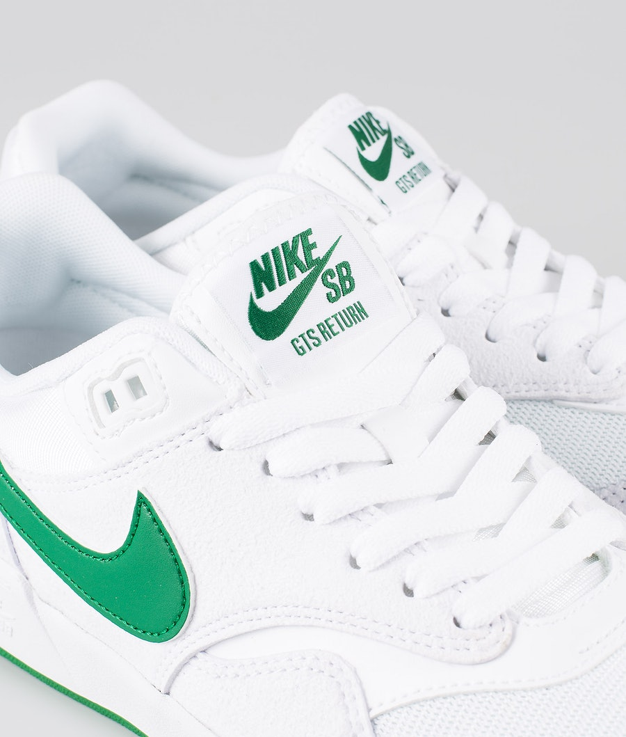 Nike SB GTS Return Sko White/Pine Green-White-White