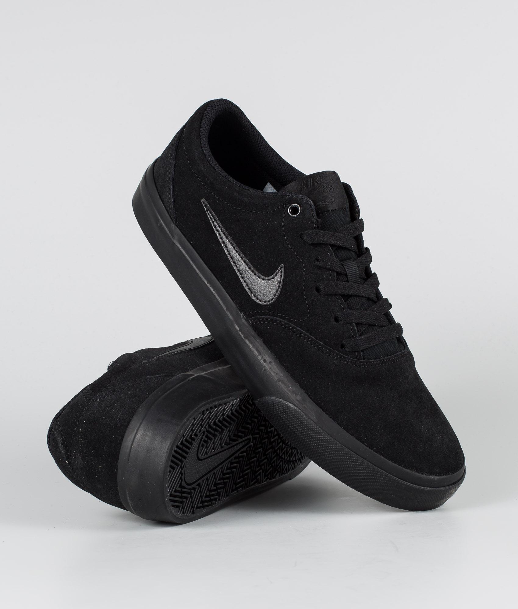 Nike SB Charge Suede Shoes Black/Black