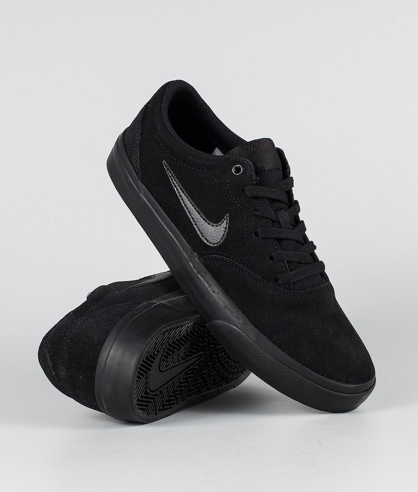 Nike SB Charge Suede Sko Black/Black-Black