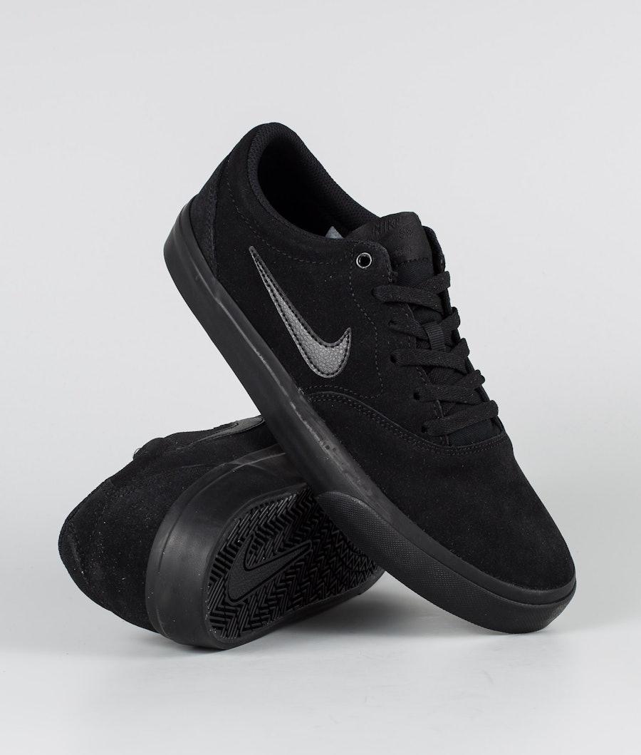 Nike SB Charge Suede Shoes Black/Black-Black
