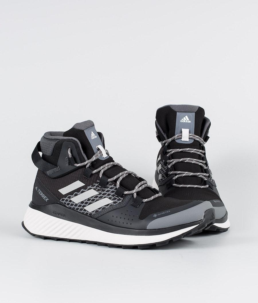 Adidas Terrex Terrex Folgian Hiker Mid GTX Chaussures Femme Core Black/Grey Four/Green Tint