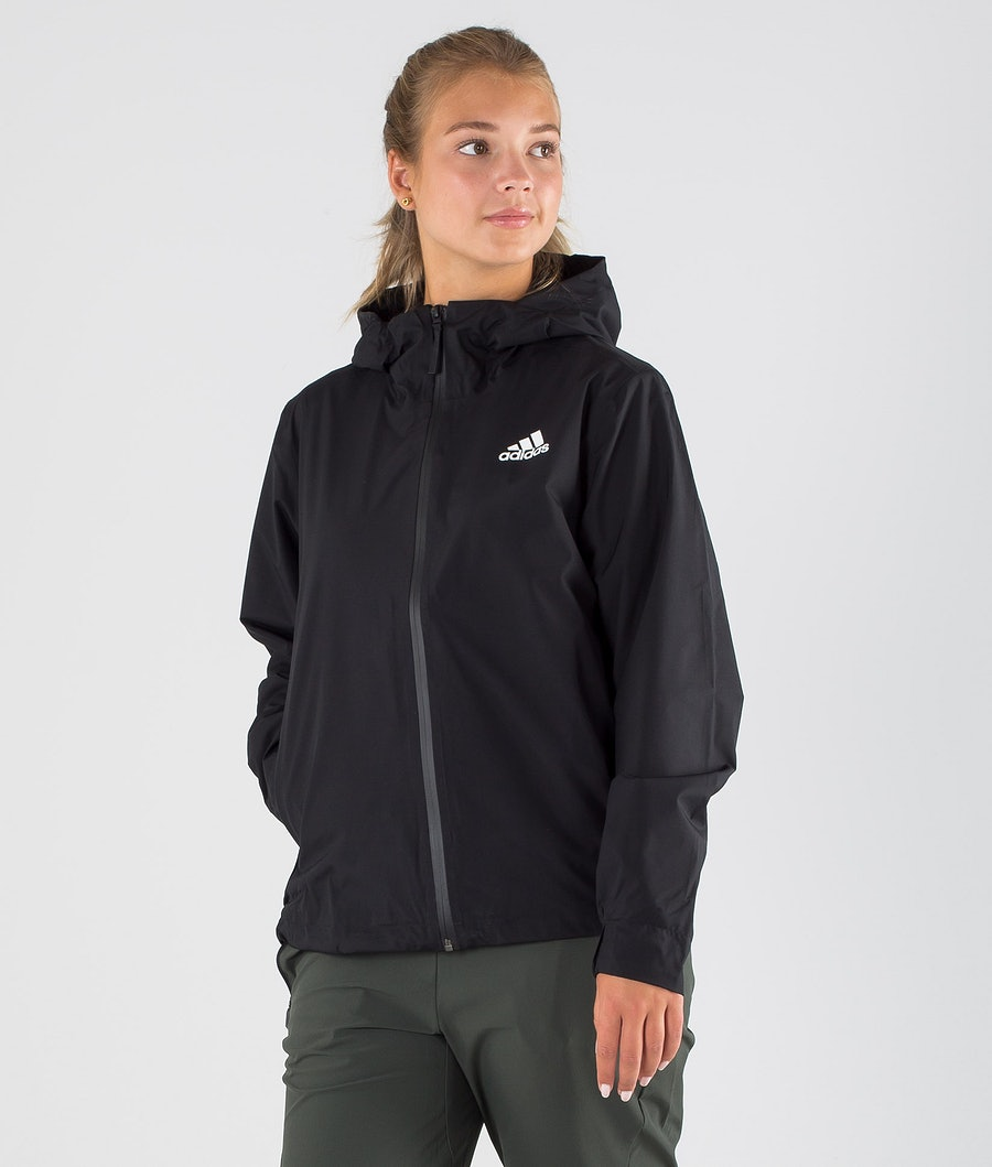 Adidas Terrex BSC 3 Stripes Rain Ready Outdoor Jacket Black