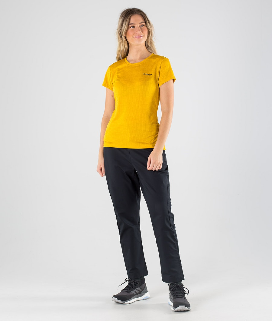Adidas Terrex Tivid T-shirt Dam Legacy Gold