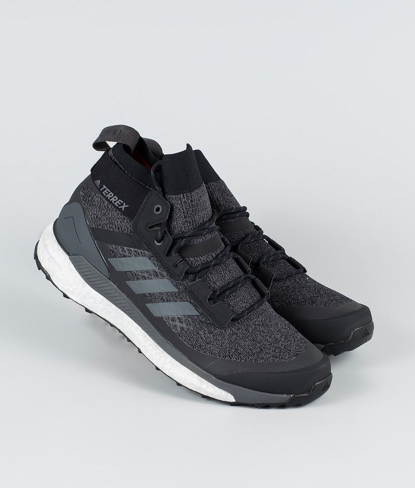 Adidas Terrex Free Hiker Skor Core Black/Grey Six/Active Orange