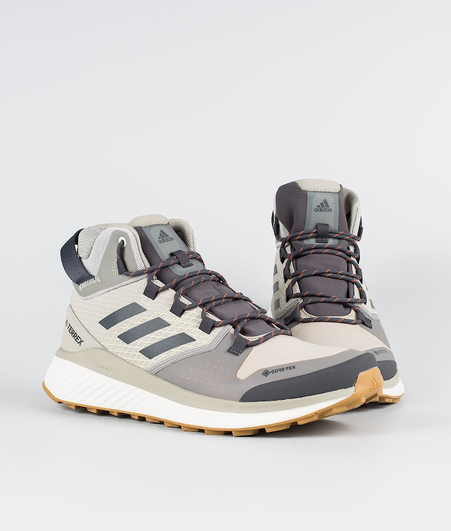Adidas Terrex Terrex Folgian Hiker Mid GTX Shoes Feather Grey/Dgsogr/Green Tint