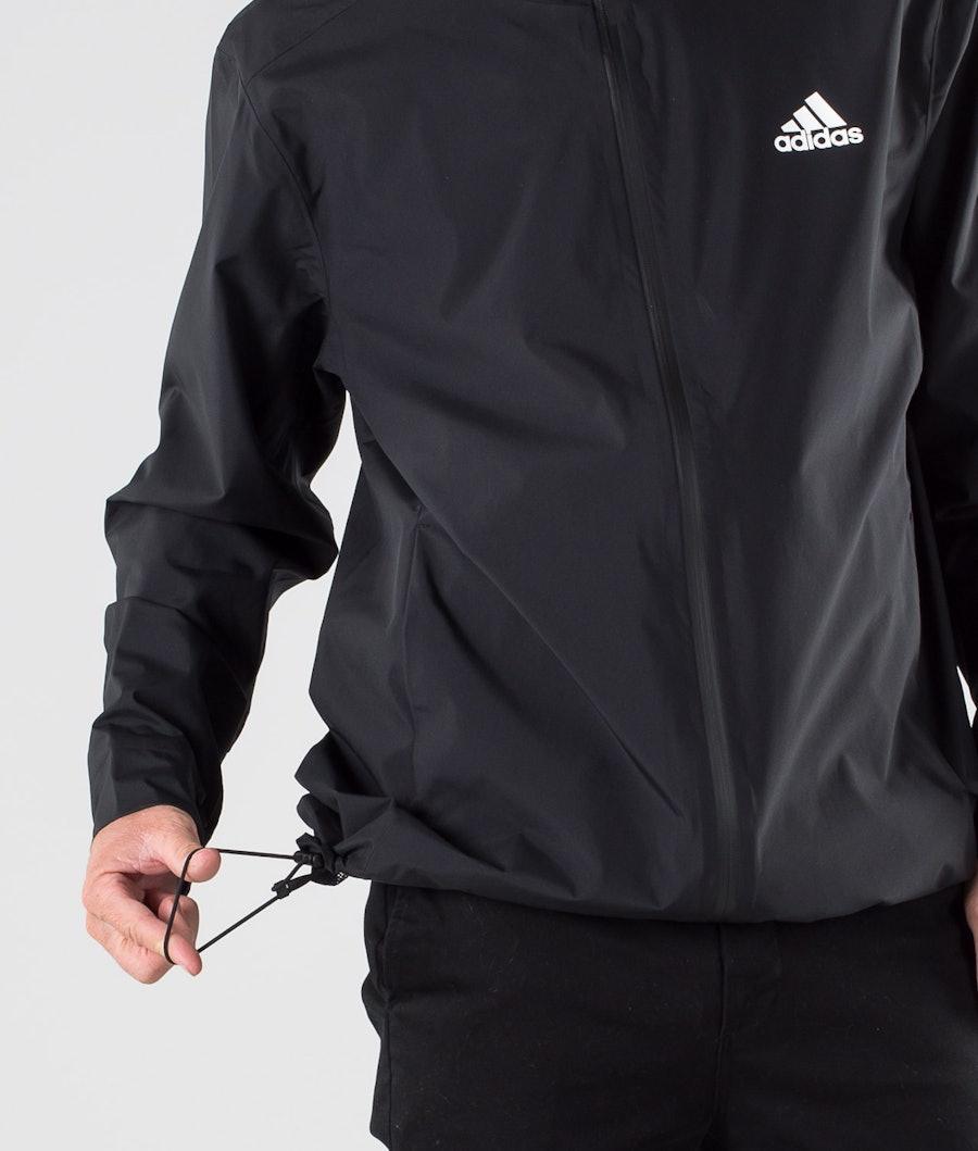 Adidas Terrex BSC 3 Stripes Rain Ready Jacke Black