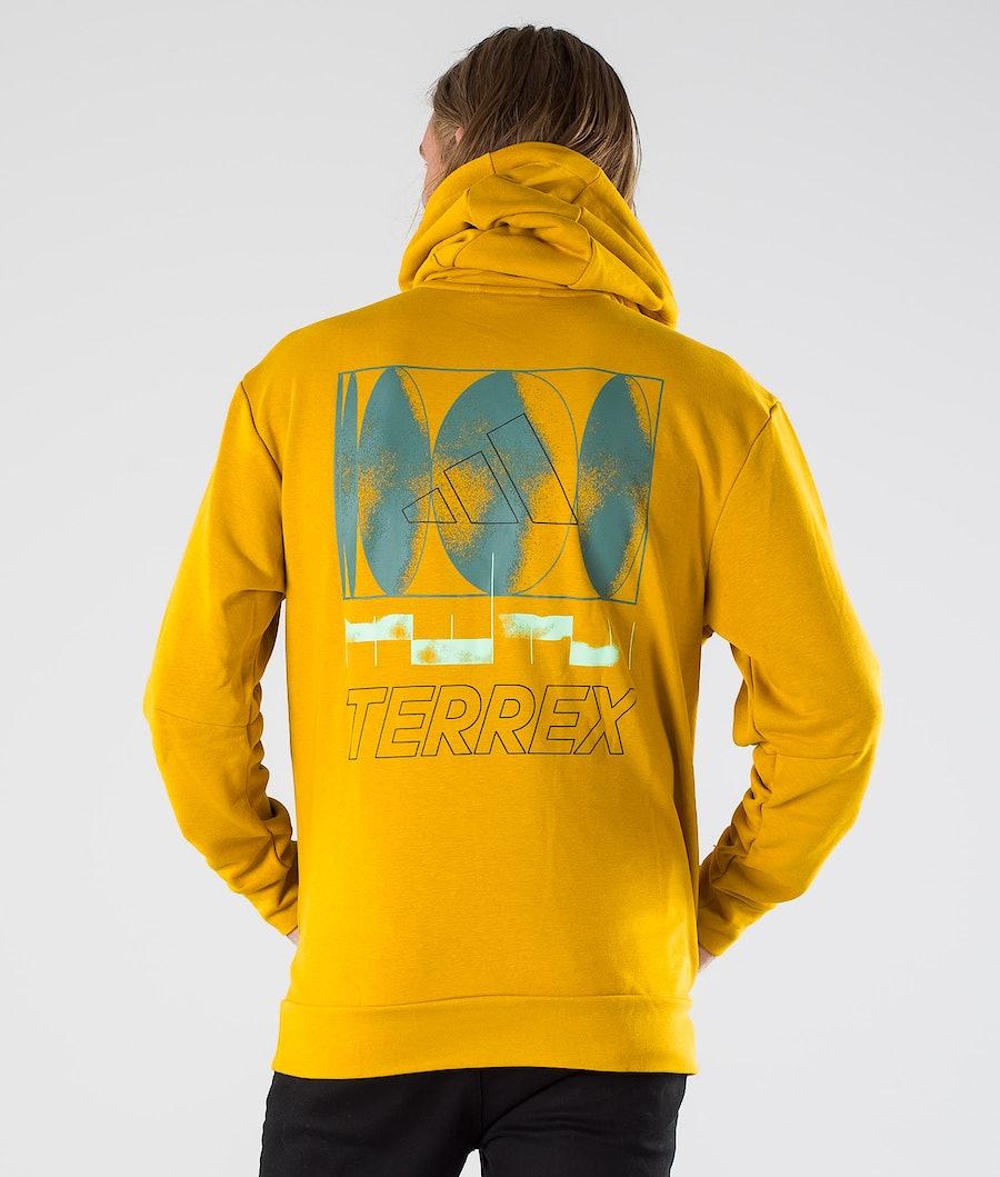 Adidas Terrex Logo Hoodie Legacy Gold