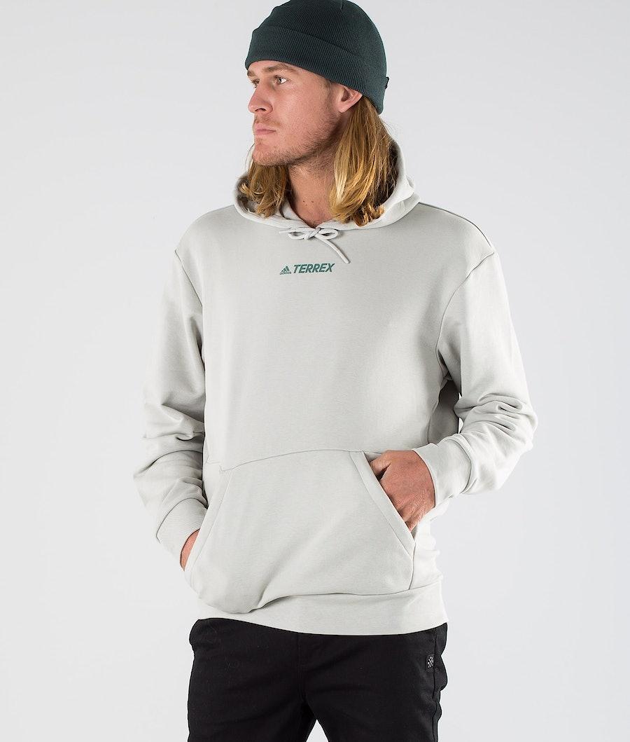Adidas Terrex Terrex Logo Hoodie Metal Grey