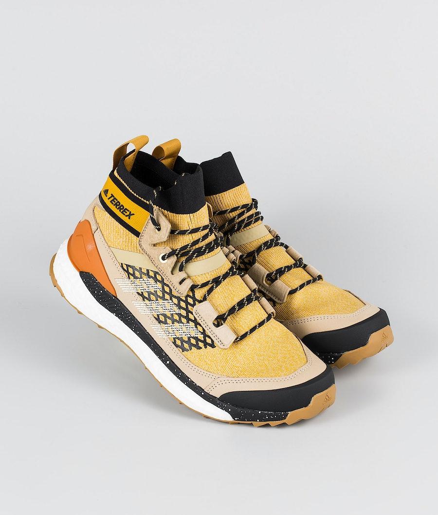 Adidas Terrex Free Hiker Blue Shoes Legacy Gold/Sand/Core Black