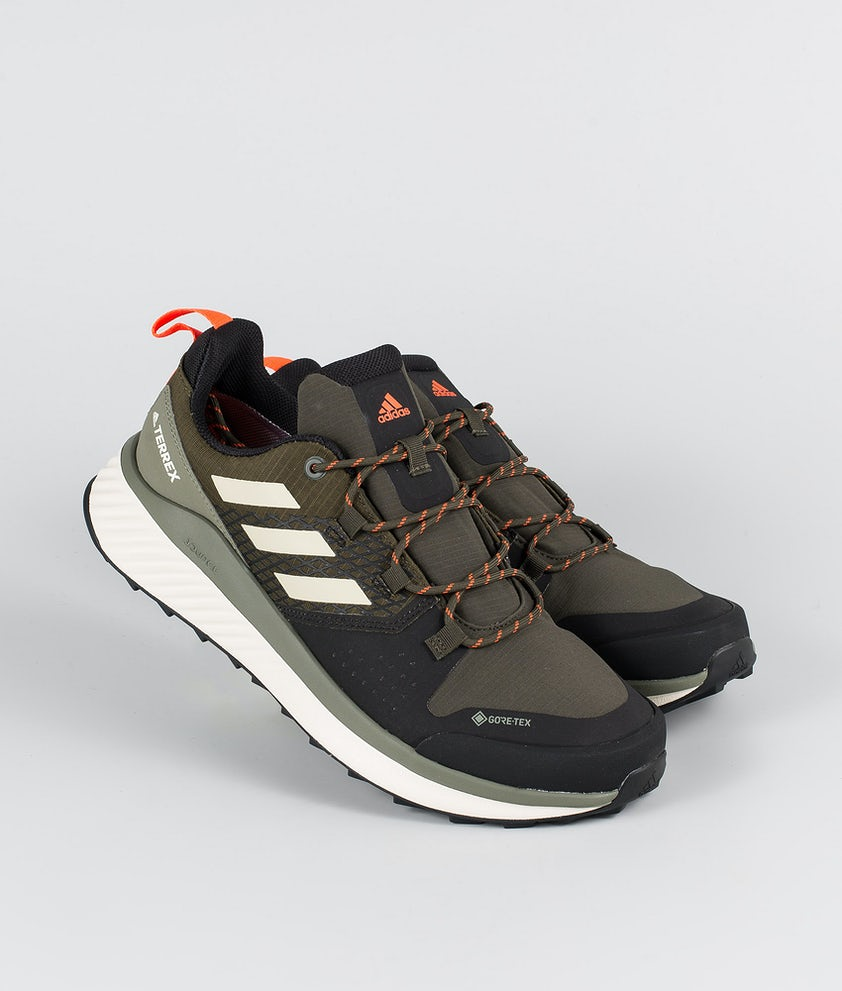 Adidas Terrex Terrex Folgian Hiker GTX Skor Feather Grey/Savannah/Solar Red