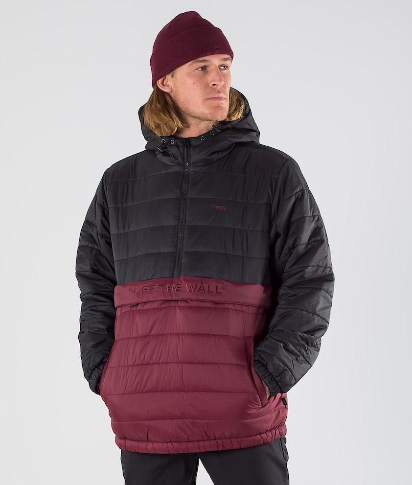 Vans Carlton Puffer Anorak II Jacket Black/Port Royale