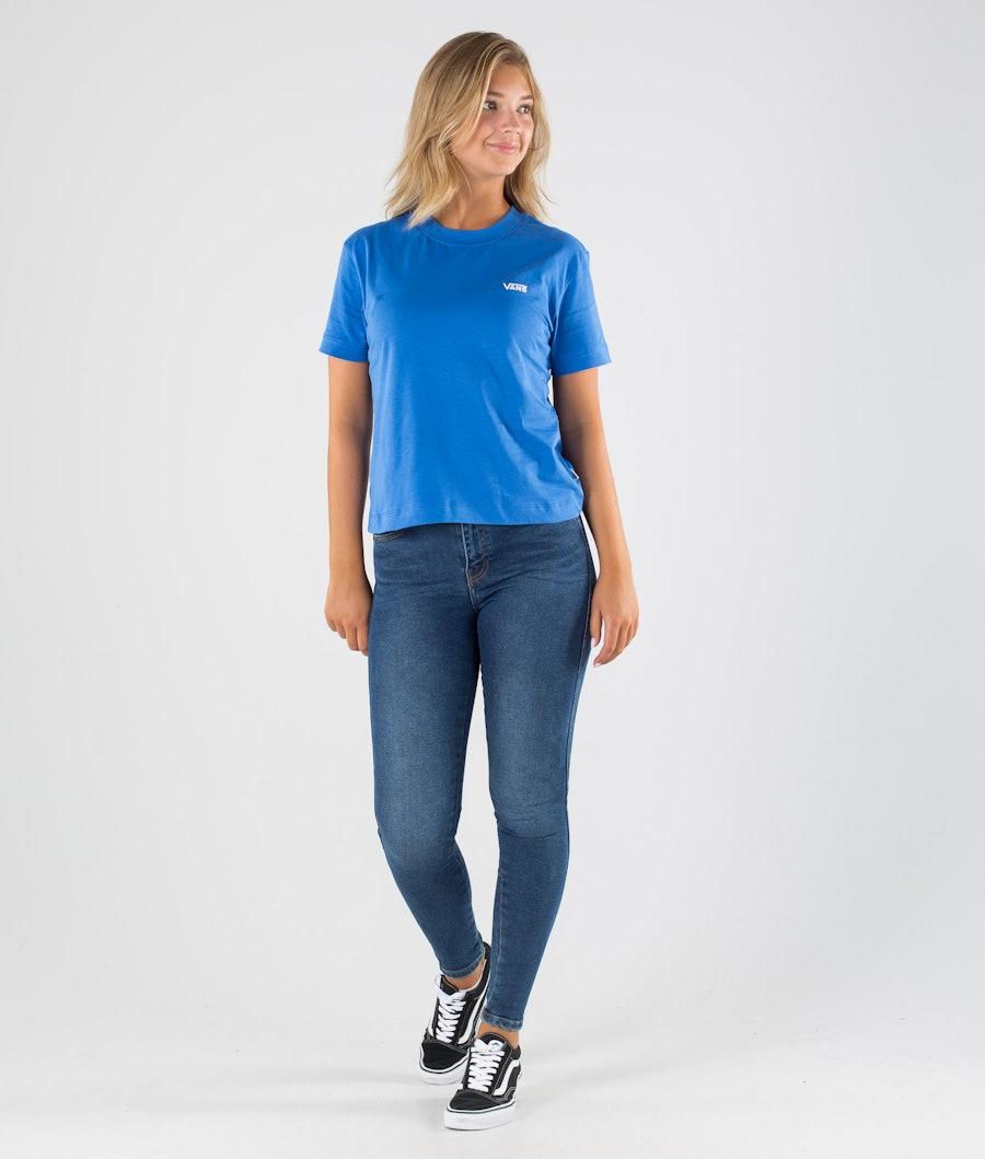 Vans Junior V Boxy T-shirt Donna Nebulas Blue